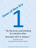 No Electricity Load Shedding