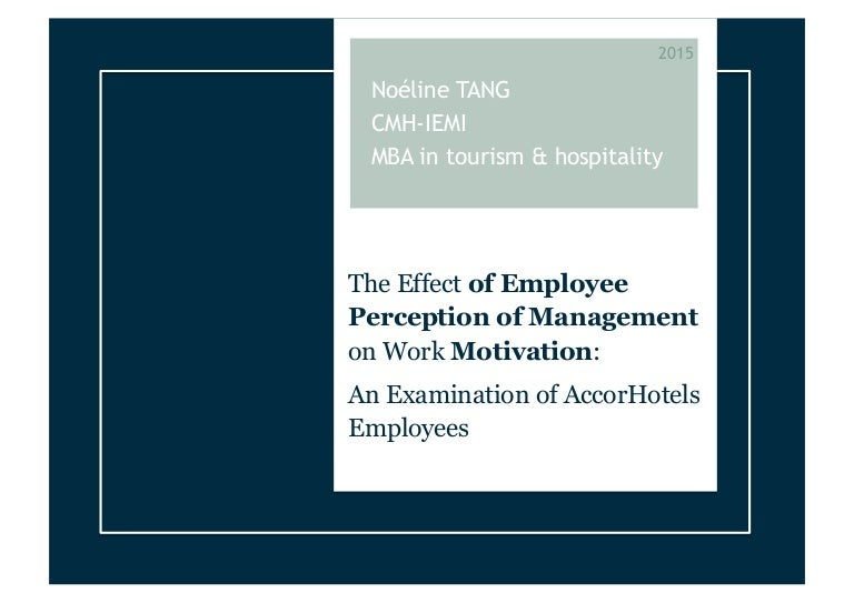 thesis the effect of employee perception of management on work moti