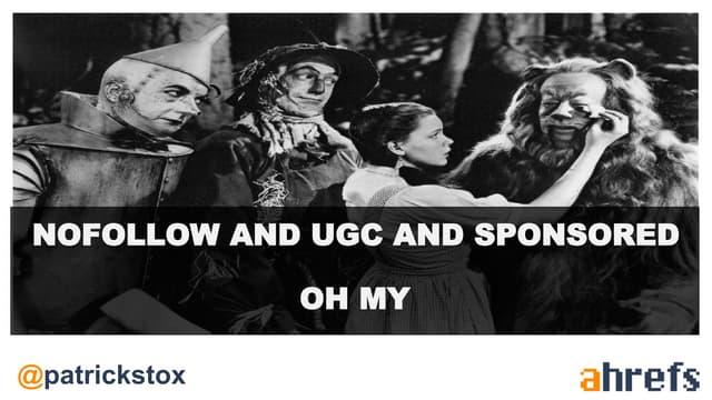 Nofollow UGC Sponsored SEOFromHome Patrick Stox Ahrefs