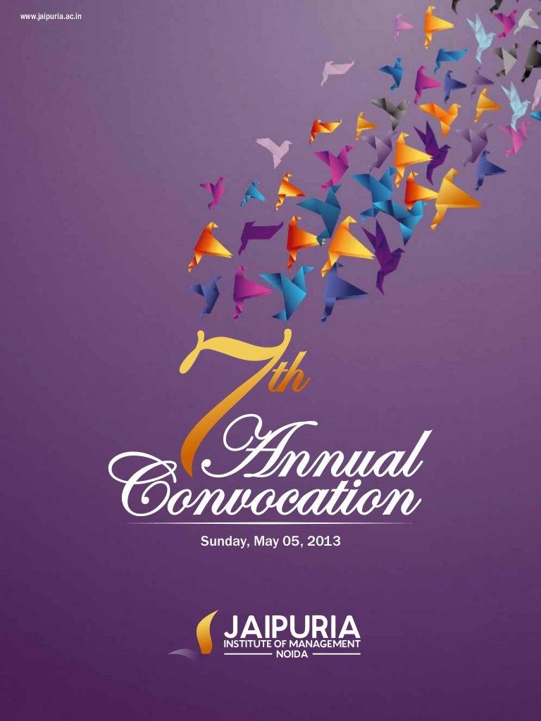 Souvenir 7th Annual Convocation Noida