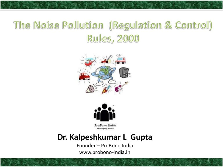 Noise pollution control act in india pdf
