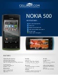 Nokia 500 Black Unlocked GSM Cell Phone