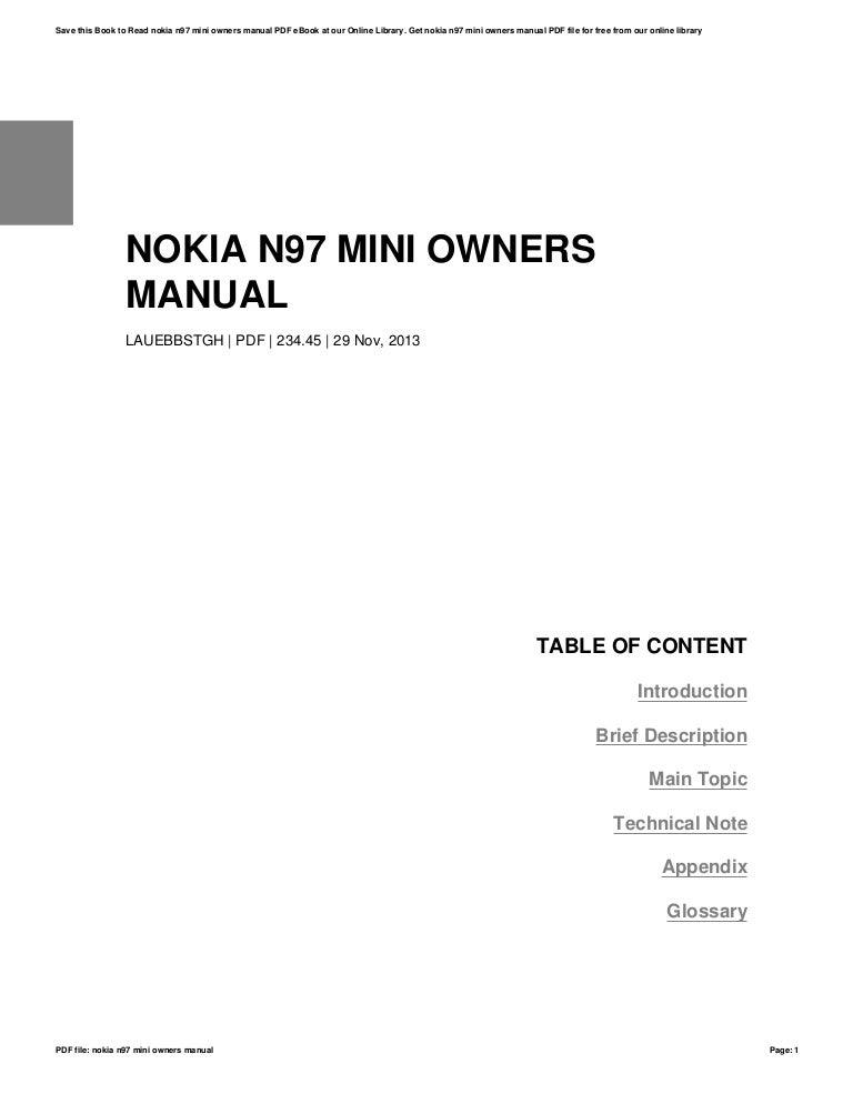 Nokia n97-mini-owners-manual