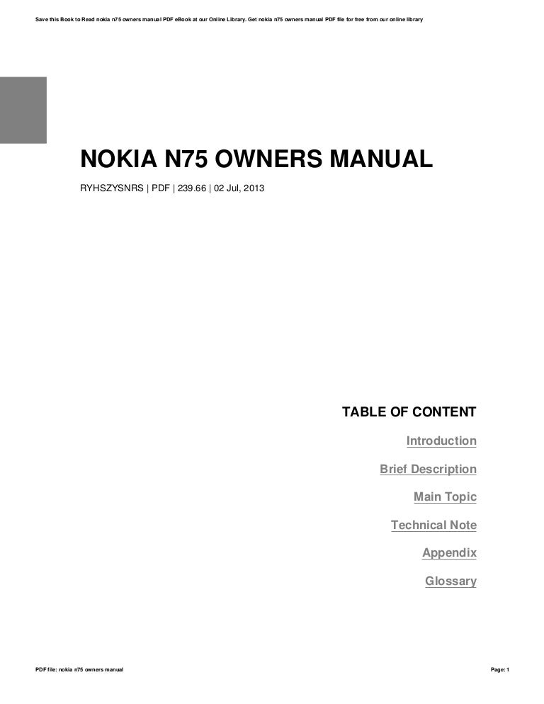 nokia n75 owners manual rh slideshare net Nokia N Series Nokia N95