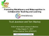 Promoting Metaliteracy and Metacognition in Collaborative Teaching and Learning