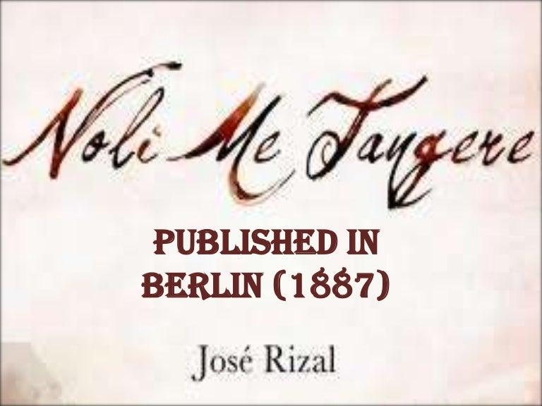 noli me tangere published in berlin 1887