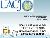 NOM-004-SSA3-2012 Expediente clinico