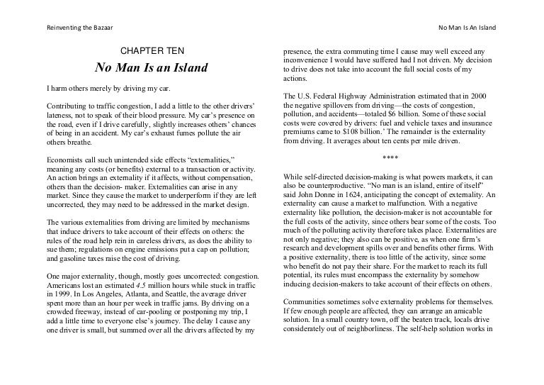 Same No Man Is An Island Meaning Essay limited