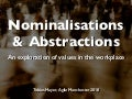 Nominalisations & Abstractions