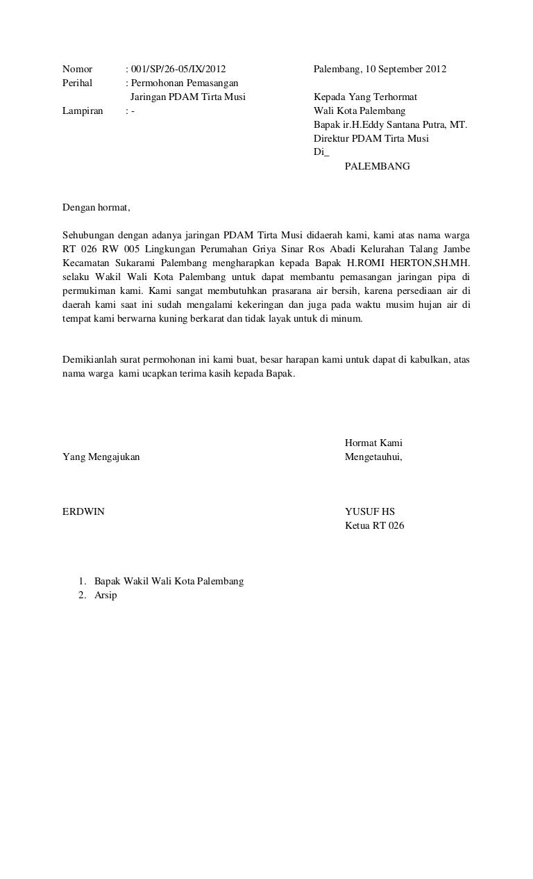 Contoh Surat Permohonan Pemasangan Listrik Untuk Sekolah Contoh Seputar Surat