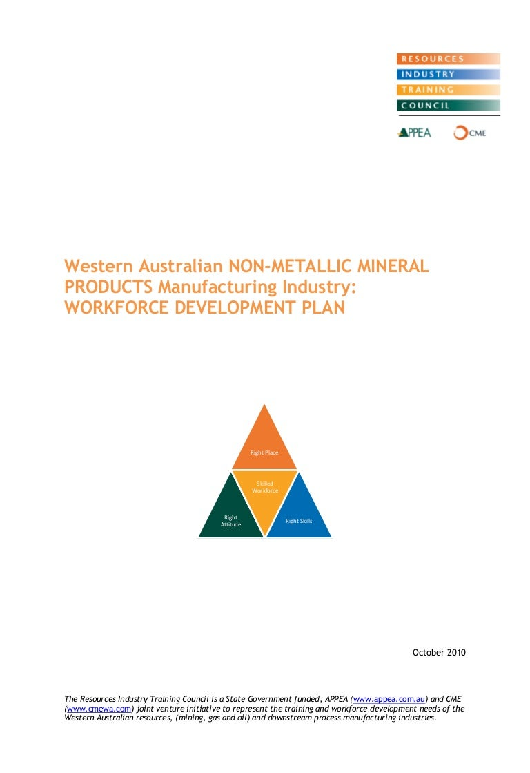 Non metallic mineral products workforce development plan oct 2010 1 dailygadgetfo Images