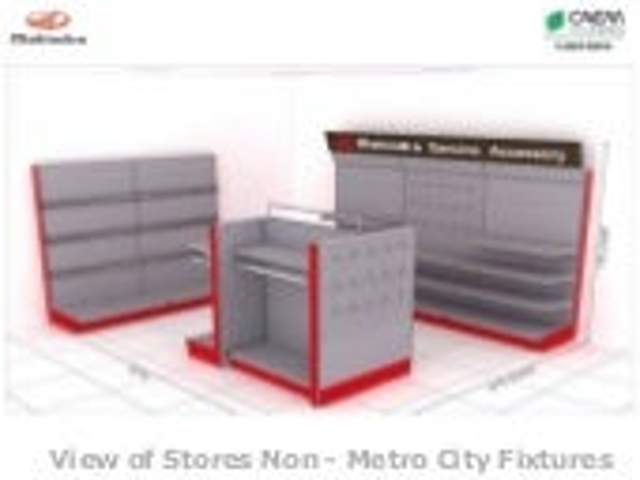 Accessories Display for Mahindra & Mahindra - Non metro cities by CAEM India