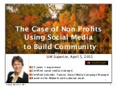 Non Profit Community Building Using Social Media