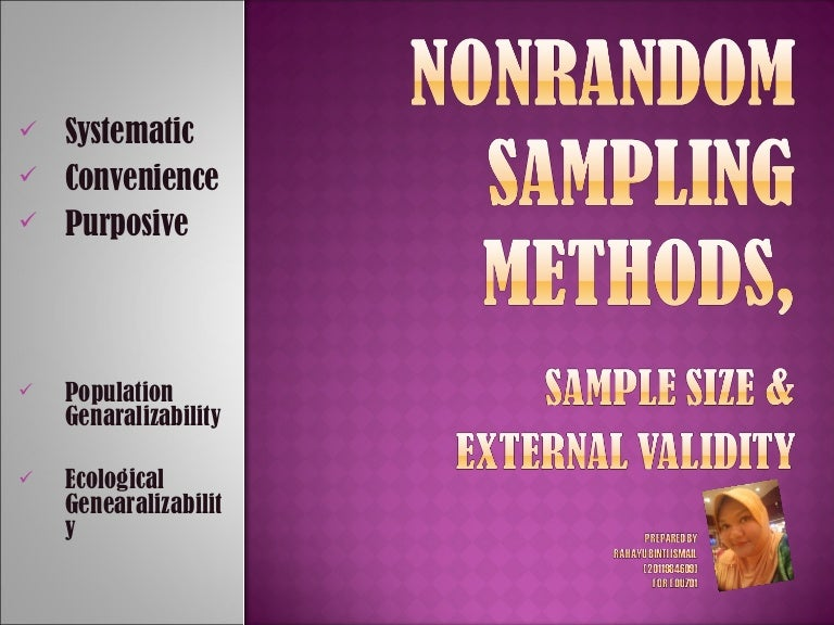 Nonrandom sampling