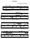 No One by Alicia Keys (piano sheet)