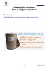 Nootropics phenylpiracetam benefits+danger+stacks