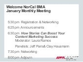 How Stories Can Boost Your Marketing Success - Jan 28 Panel NorCal BMA