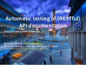 Nordic APIs - Automatic Testing of (RESTful) API Documentation