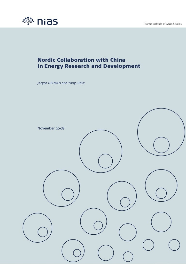 Nordic Collaboration With China In Energy Research And Develiopment