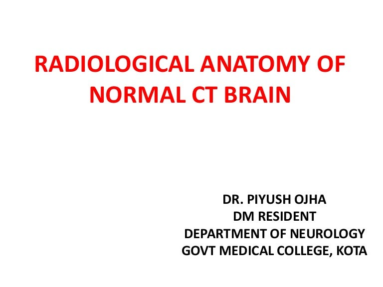 Normal Ct Brain