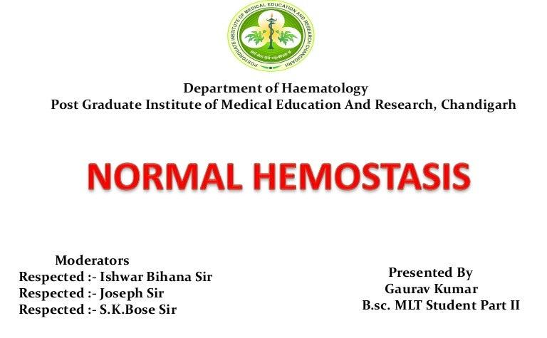 Ppt coagulation and hemostasis powerpoint presentation id:276542.