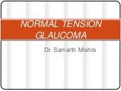 Normal tension glaucoma