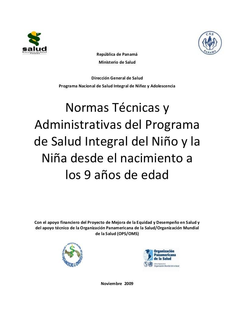 Normas tecnicas-y-administrativas-del-programa 0-9 años