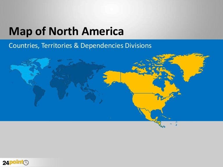 Map of north america editable powerpoint presentation toneelgroepblik Image collections