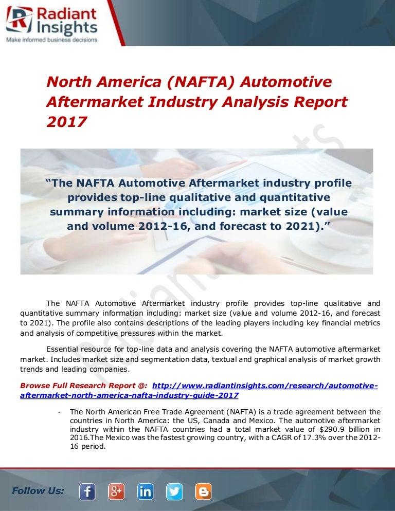 North America Nafta Automotive Aftermarket Industry Analysis Report