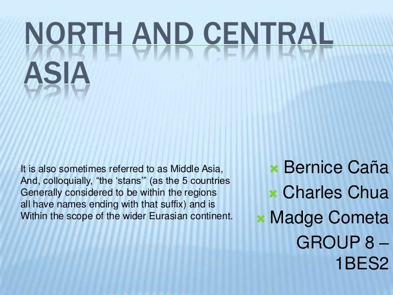 Names of central asian countries
