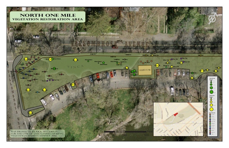 Bidwell Park North One Mile Restoration Project Map