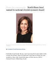 From the community: North Shore local named to national Jewish women's board