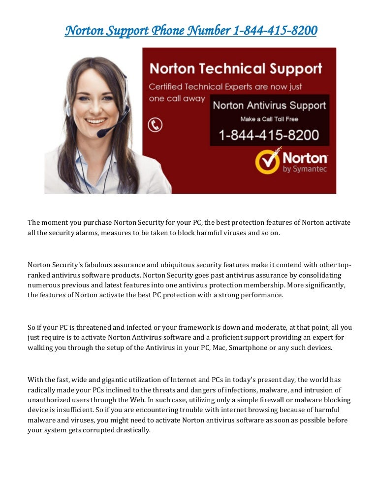 Norton support phone number 1 844-415-8200 usa