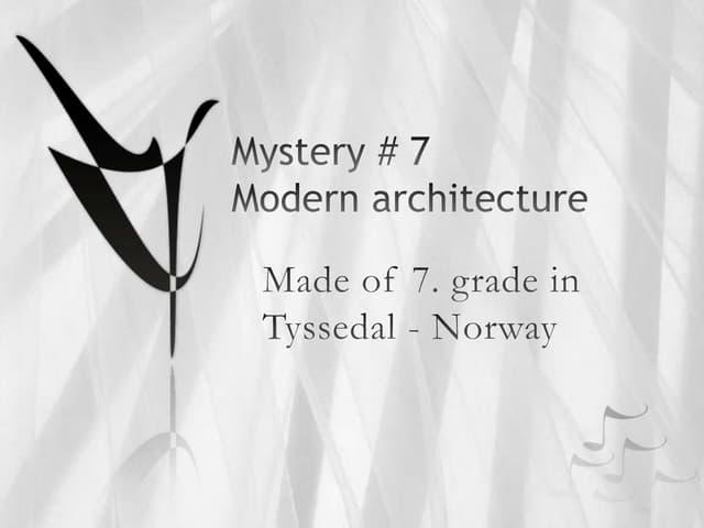 Norwegian mystery no 7