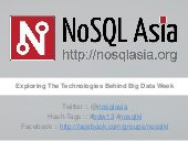 1st NoSQL Asia Event in Malaysia