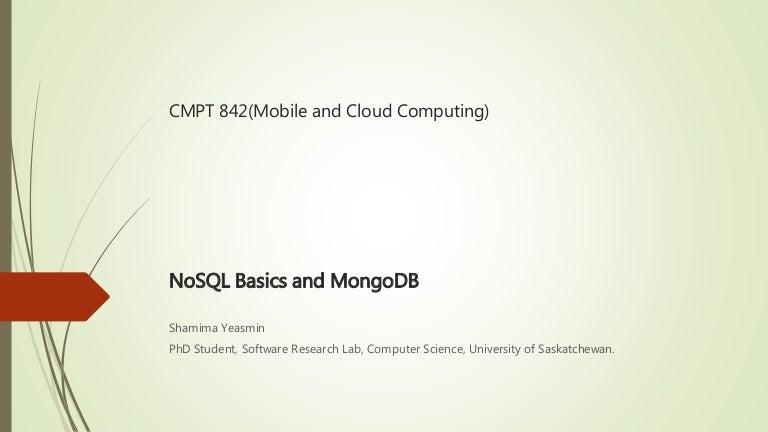 NoSQL Basics and MongDB