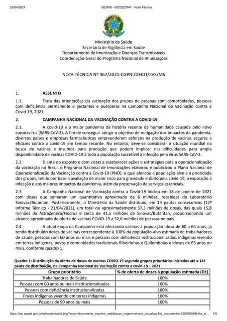 Covid-19: Gestantes e Puérperas/Lactantes devem ser vacinadas imediatamente