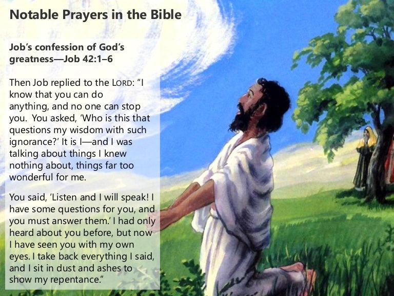Notable Prayers in the Bible