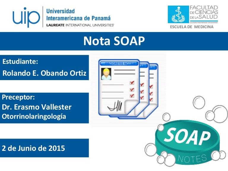 Nota de Evolución o Nota SOAP