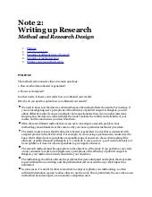 Note 2    writing a research