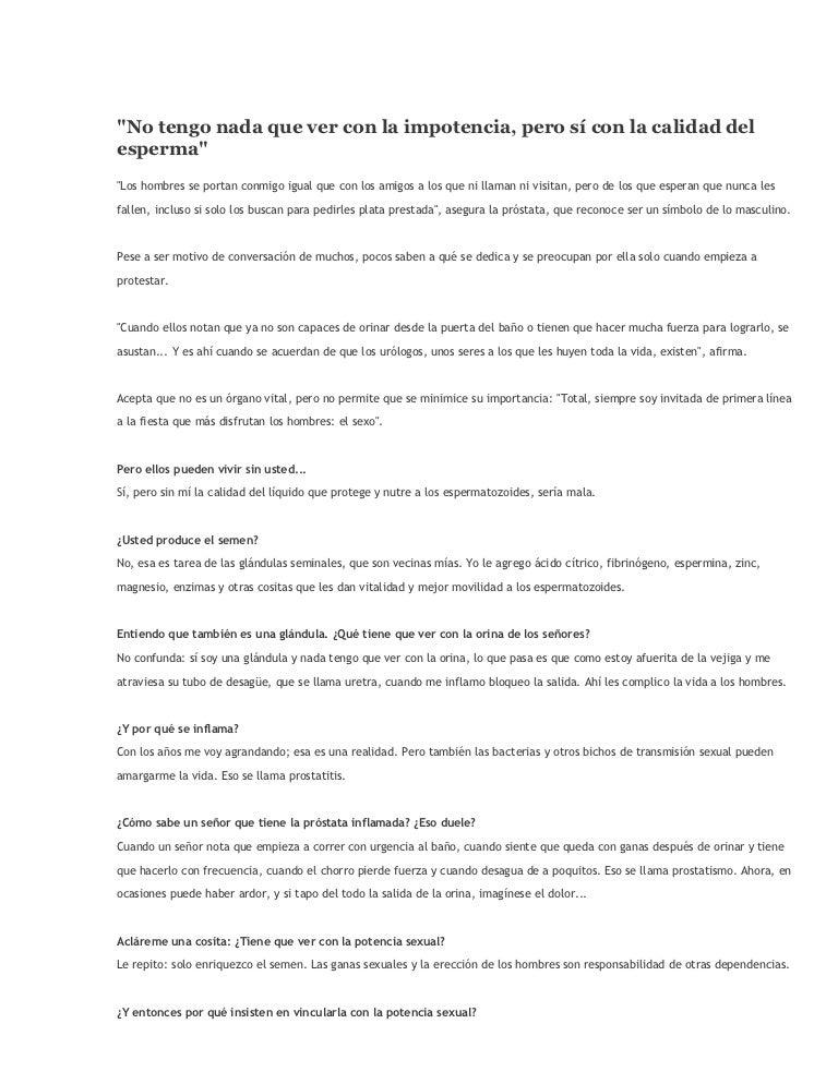 líquido prostático de baja calidad en español