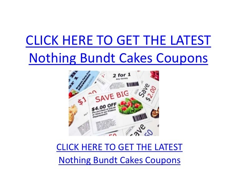 picture relating to Head and Shoulders Printable Coupons known as Very little Bundt Cakes Coupon codes - Printable Absolutely nothing Bundt Cakes