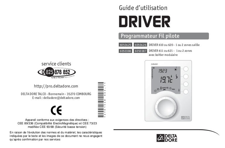 Delta Dore 620 Driver Installation User Manual 2 Pages