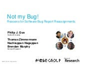 Not my bug! Reasons for software bug report reassignments