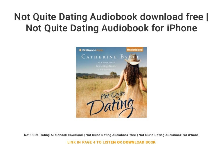 not quite dating book