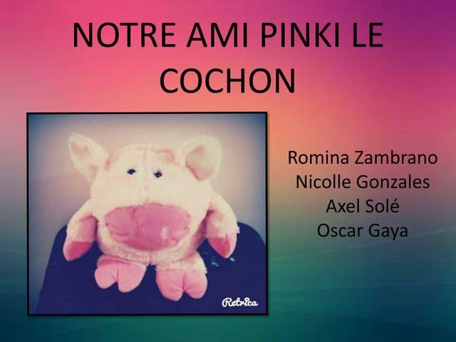 Notre ami Pinki le cochon
