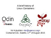 Not so brief history of Linux Containers
