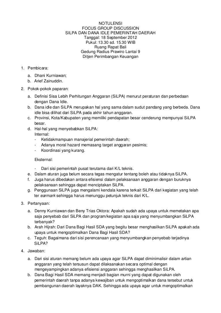 Contoh Laporan Fgd Jobs Id 2017