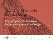 Nov. 8, 2011 webcast   desiging mobile interfaces by steven hoober
