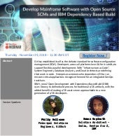 Webcast : Develop Mainframe Software with Open Source SCMs and IBM Dependency Based Build